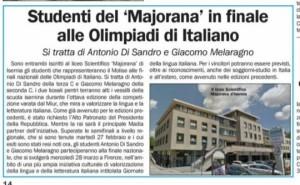 olimpiadi di italiano 2018